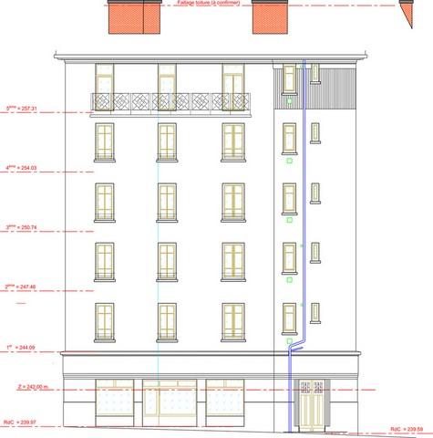 Façade architecture plan